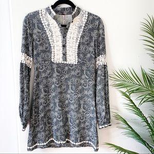 Free People | Paisley Lace Mini Dress